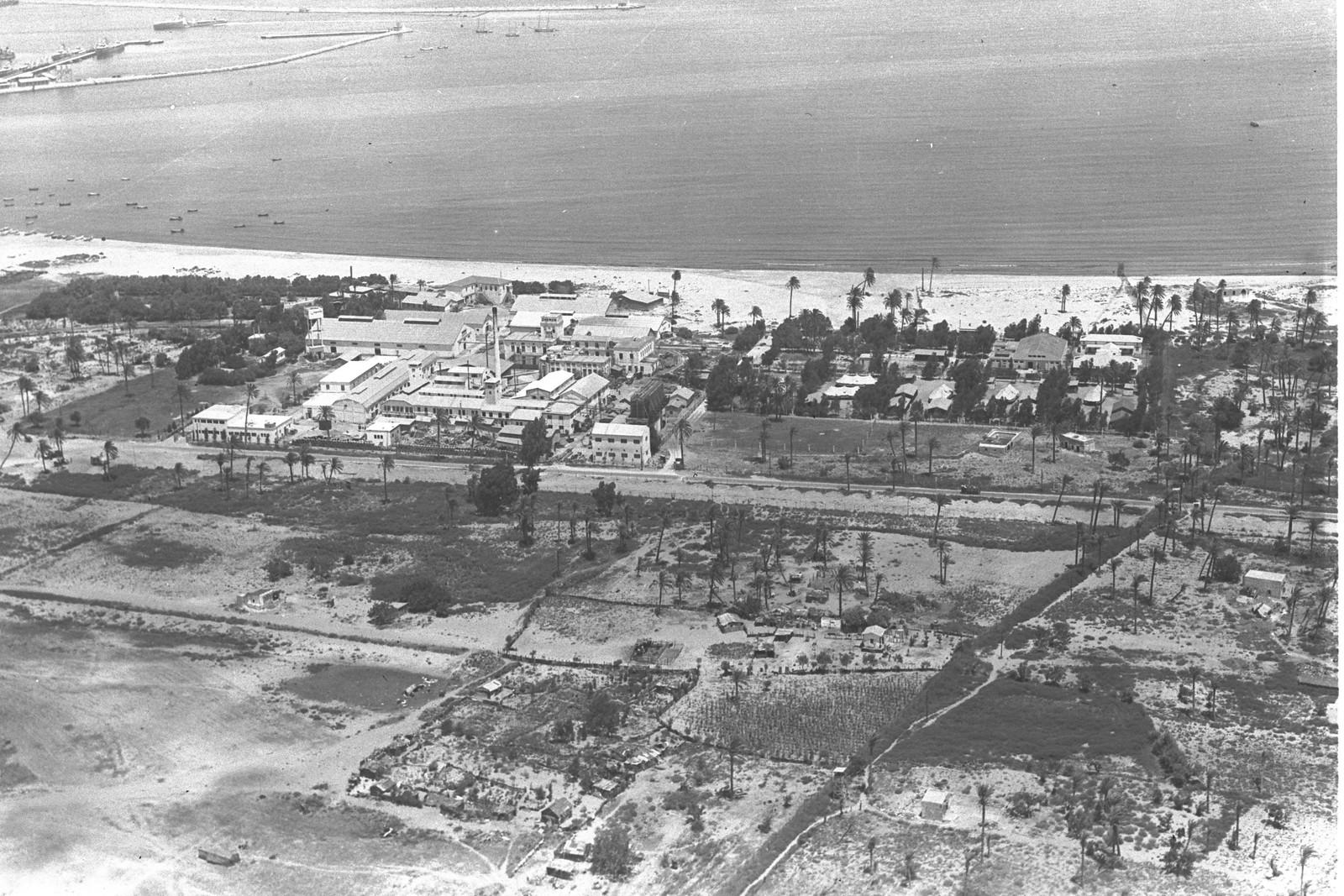 1939. Хайфа. Завод и пляж «Шемен»