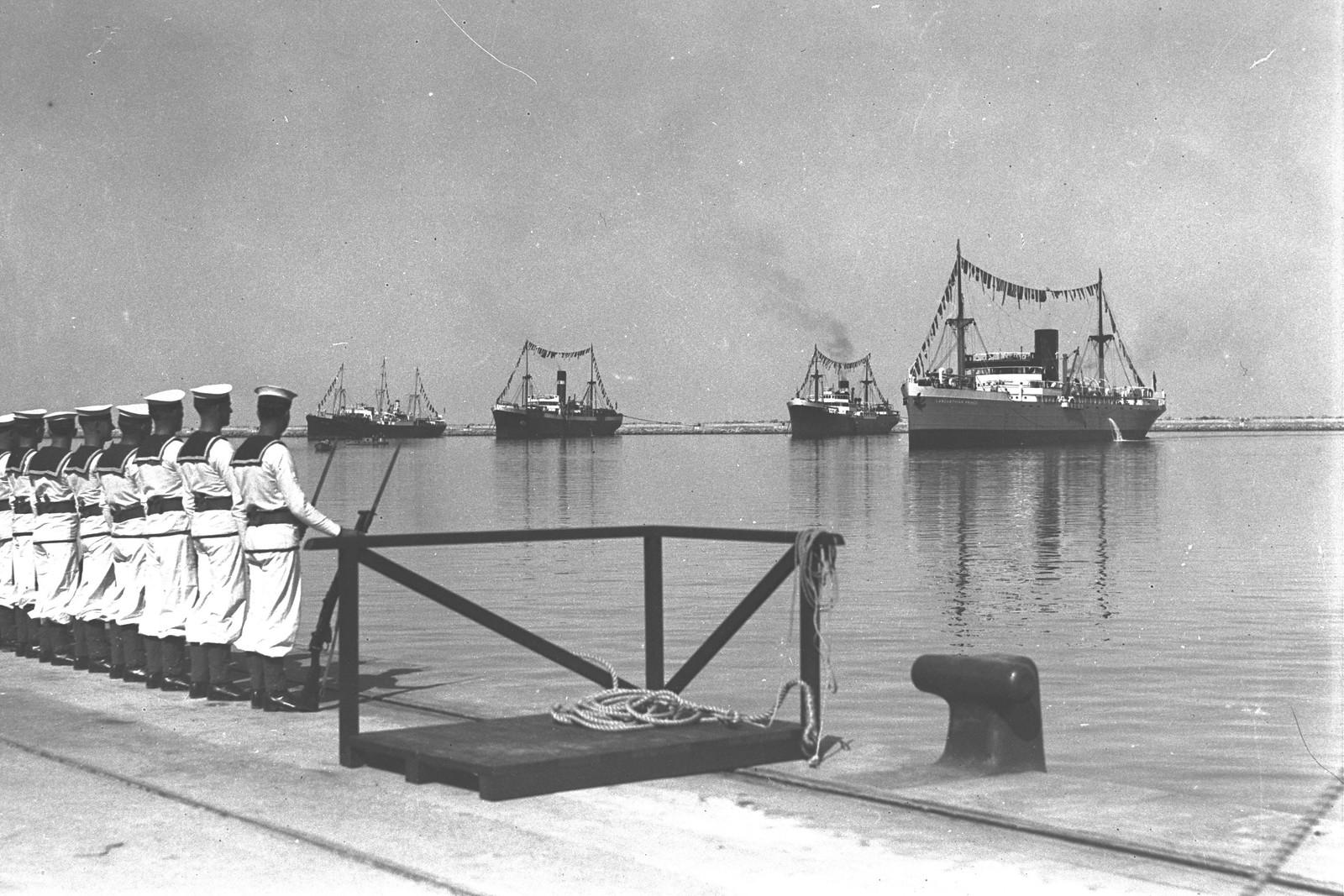1933. Хайфа. Церемония открытия порта.