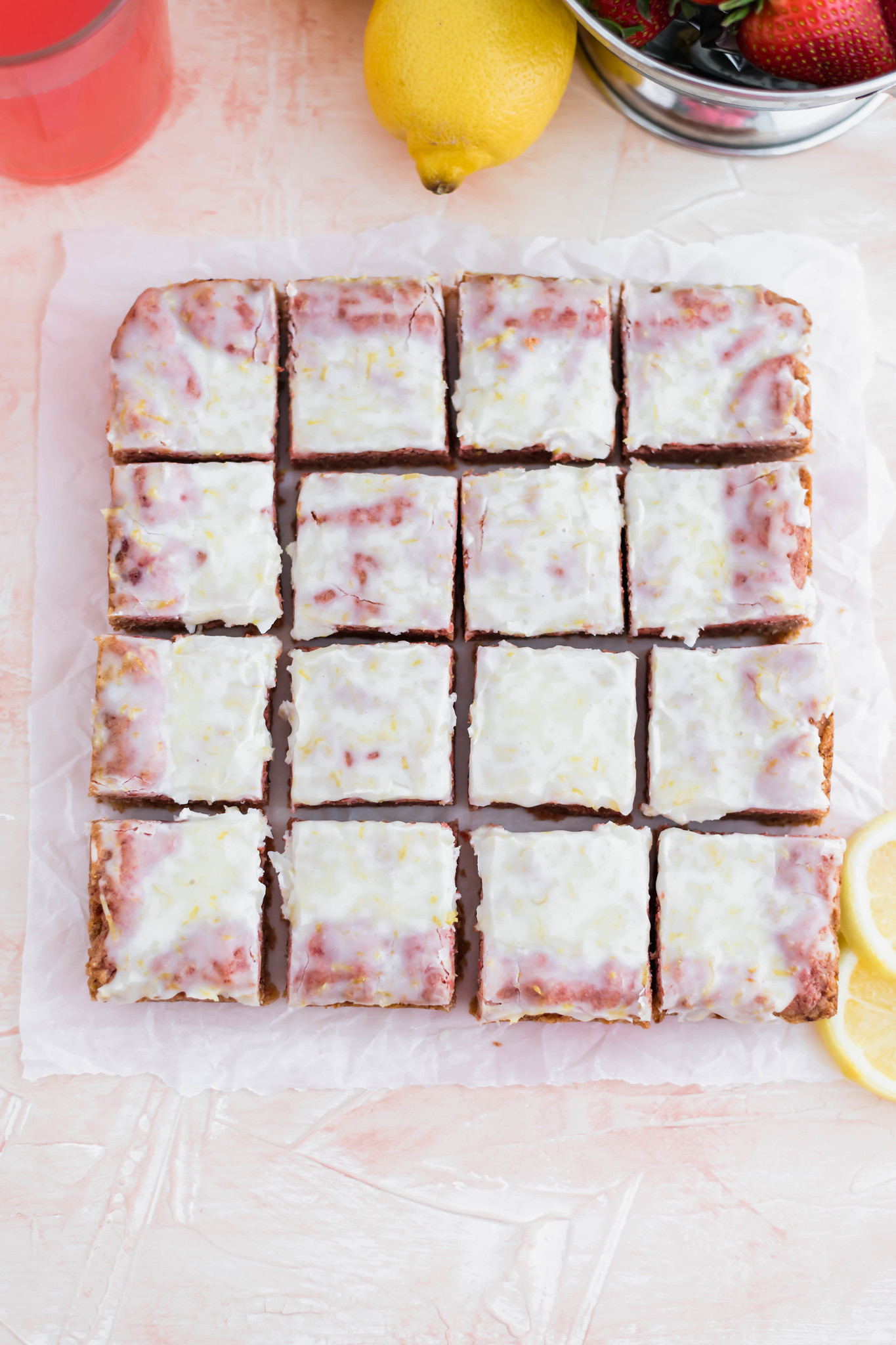 Looking for a sweet and zingy dessert perfect for spring? These Strawberry Lemonade Bars are quick to make and start with a lemon cake mix.