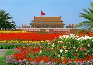 Beijing - Tiananmen Square Flowers & Forbidden City - Oct'93