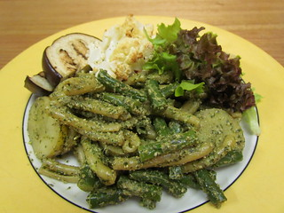 Gemelli with Green Beans, Potatoes, and Basil Pesto
