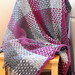 Gray and Magenta Afghan