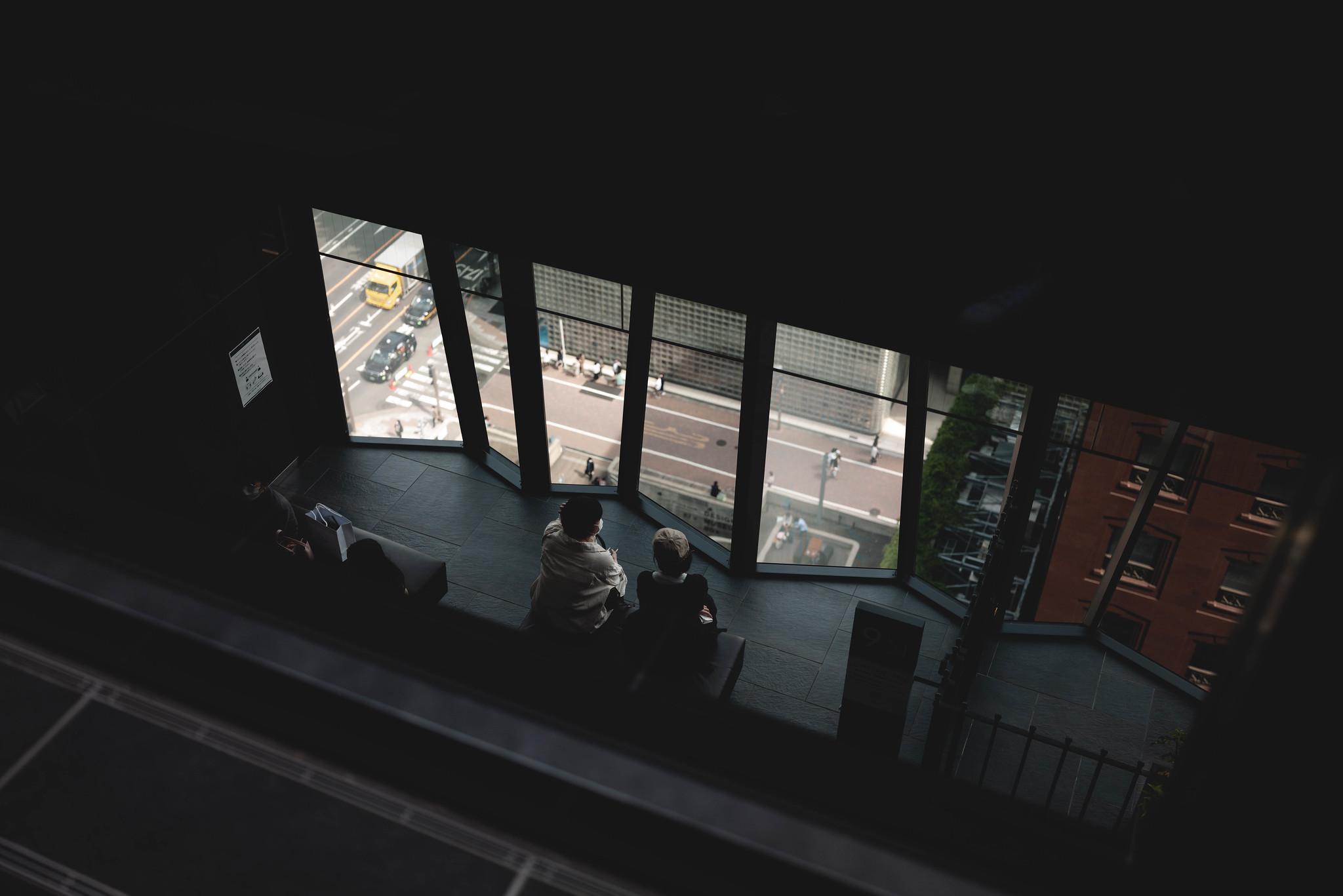 Ginza overlooking