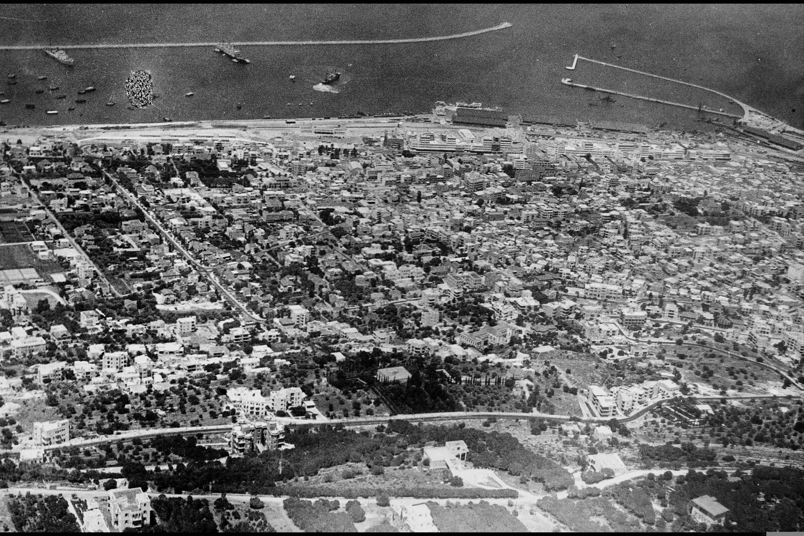 1937. Хайфа. Вид с воздуха