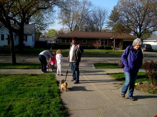 going for family walk