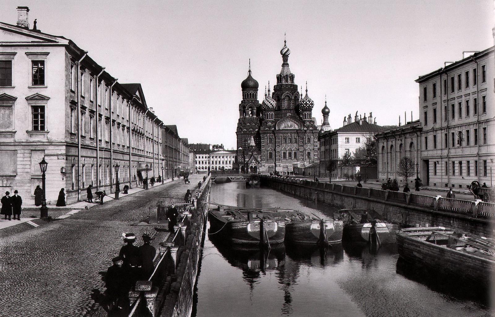 1908. Екатерининский канал. Храм Спаса-на-Крови