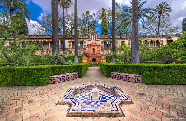 Simetría en un jardin Real - Symmetry in a Real garden