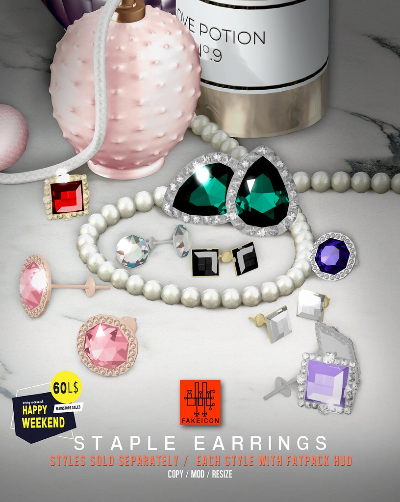 FAKEICON staple earrings @ Mainstore Happy Weekend Sale