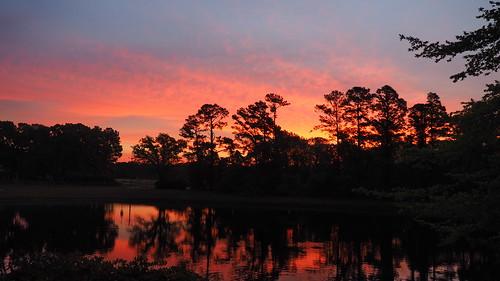 spectacularsunsetsandsunrises sunsetsandsunrisesgold sunrise cloudsstormssunsetssunrises fairfieldharbour northcarolina lake olympus omdem10