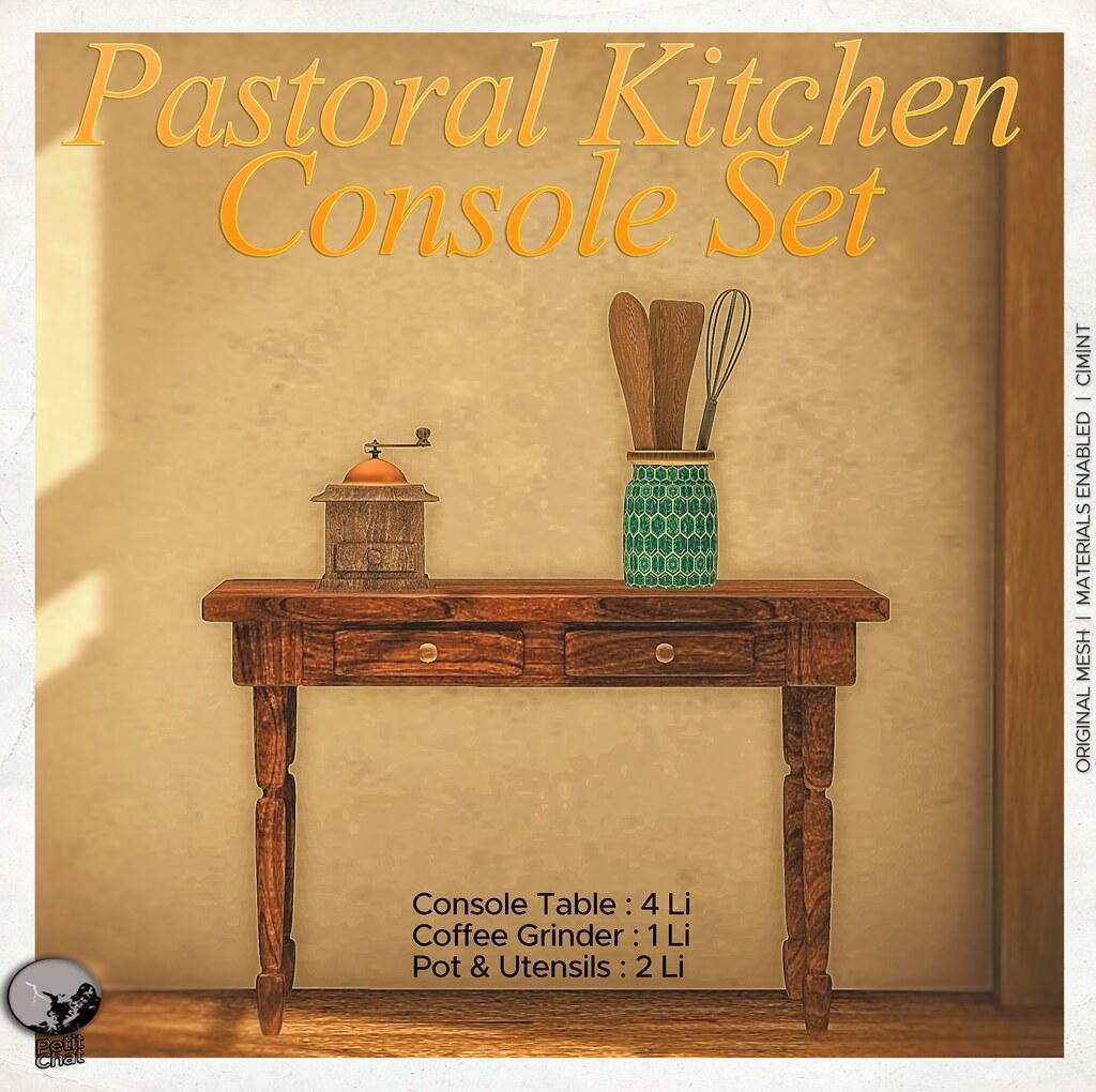 New Release : Pastoral Kitchen Console Set @ Secret Sale Sundays