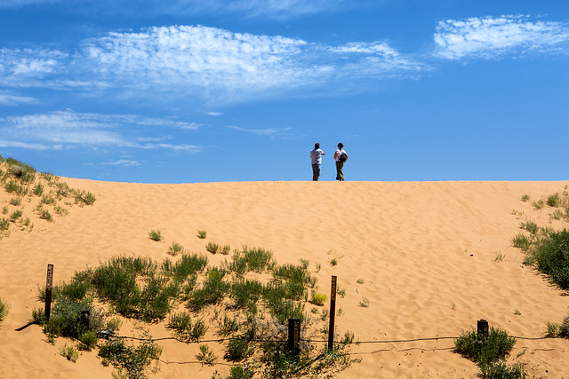 Coral pink sand dunes .............USA West