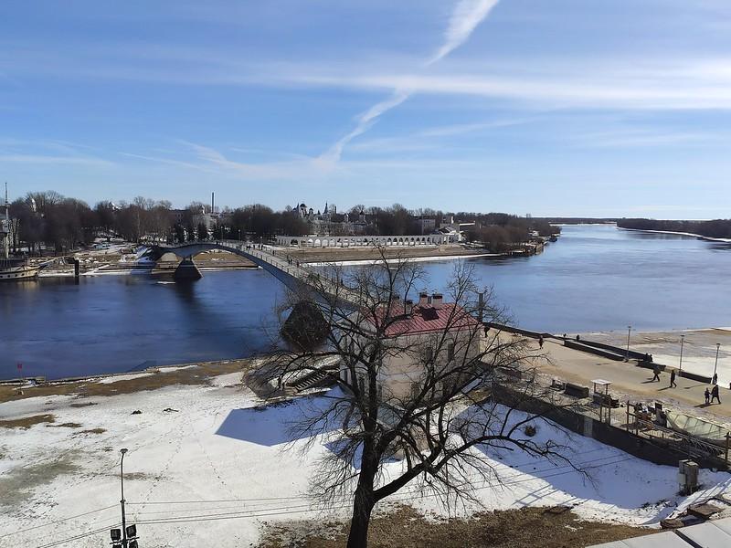 Великий Новгород - Вид на реку Волхов со звонницы