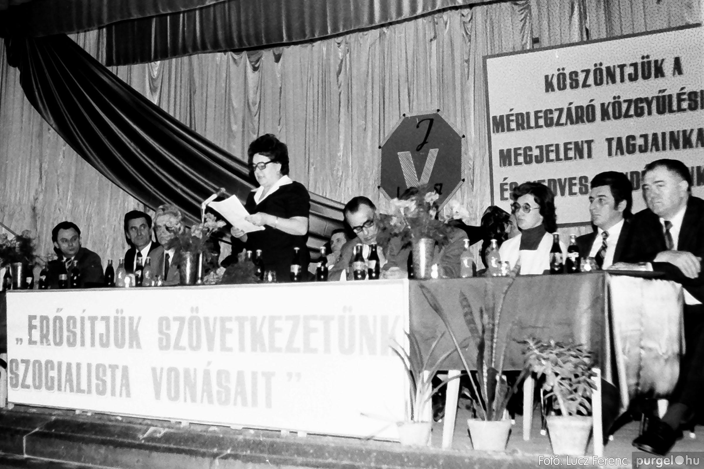 107. 1978. A KTSZ mérlegzáró közgyűlése 020. - Fotó: Lucz Ferenc.jpg