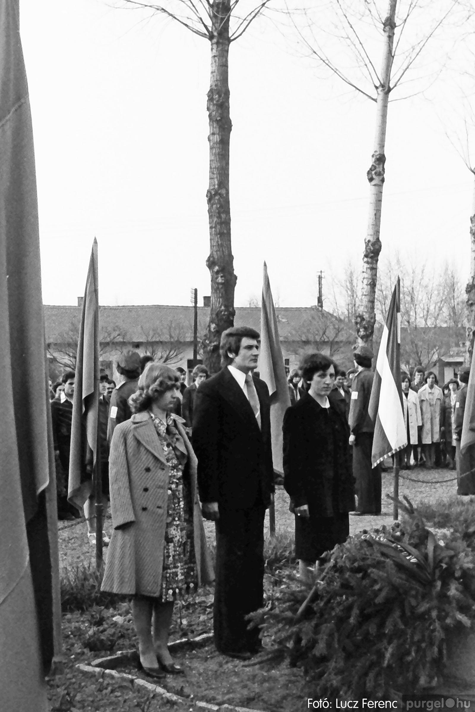109. 1978. Április 4-i ünnepségek 015. - Fotó: Lucz Ferenc.jpg