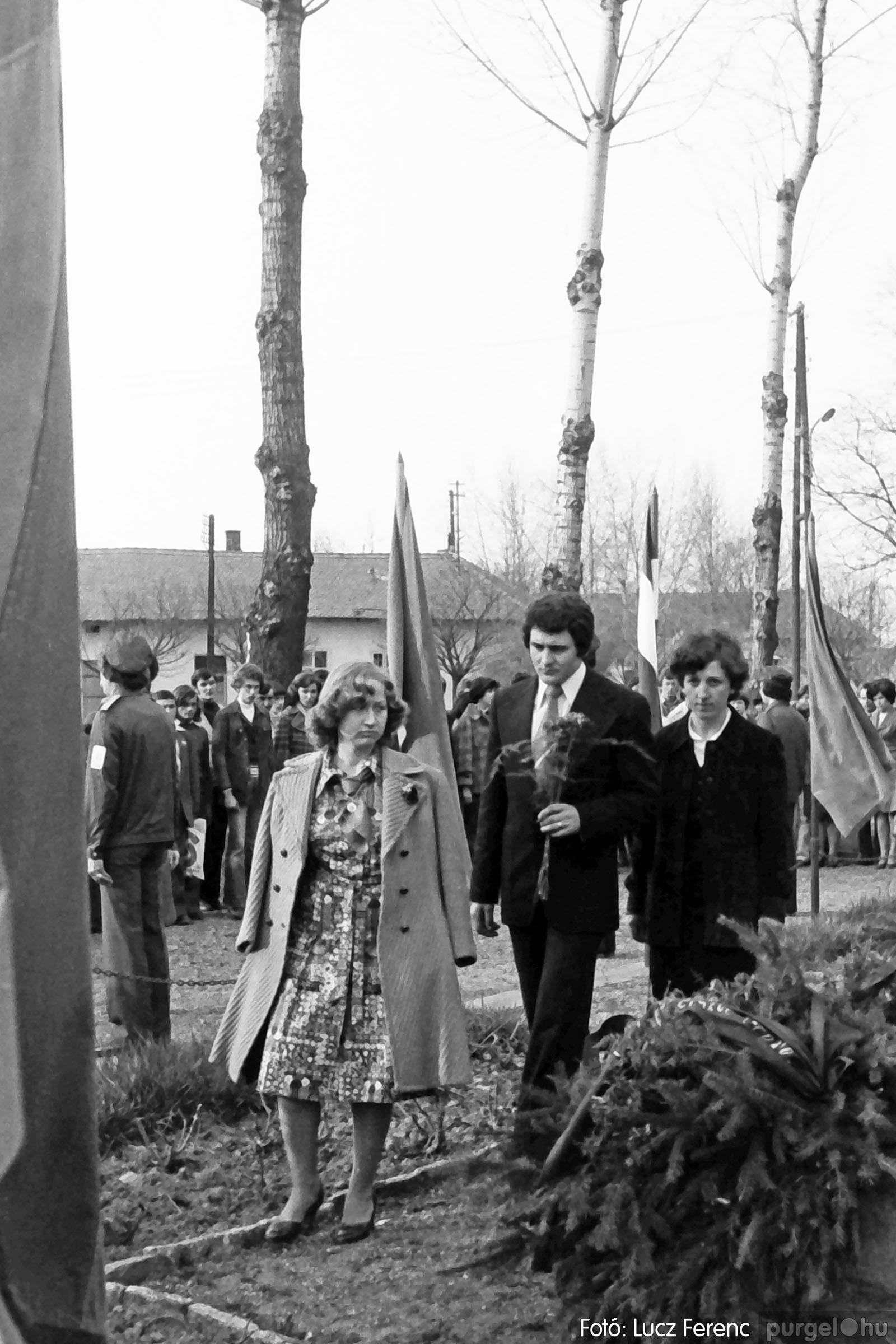 109. 1978. Április 4-i ünnepségek 014. - Fotó: Lucz Ferenc.jpg