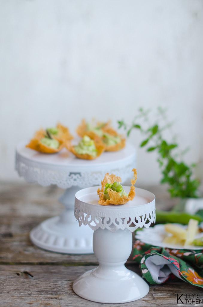 cialde croccanti fave, asparagi e pecorino