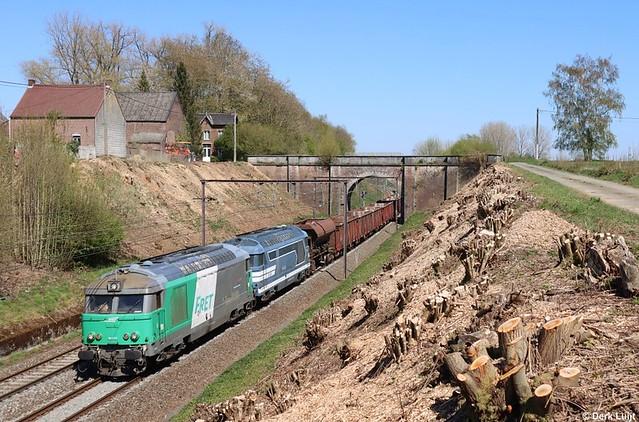SNCF BB67579 & BB67629, Neufvilles, 23-4-2021 15:37