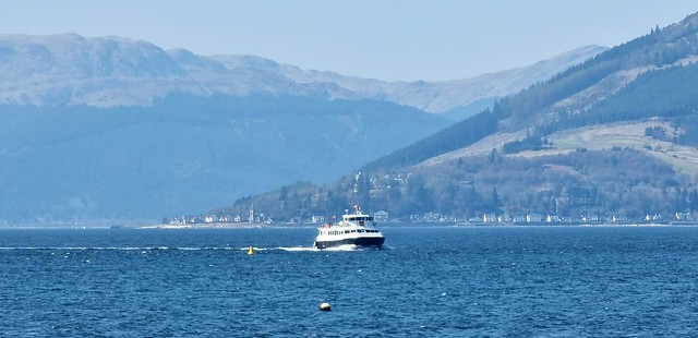 Calmacs Alicat on the Clyde approaching Gourock on her regular sailing from Dunoon.