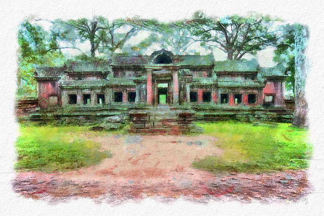 small temple in Angkor Wat