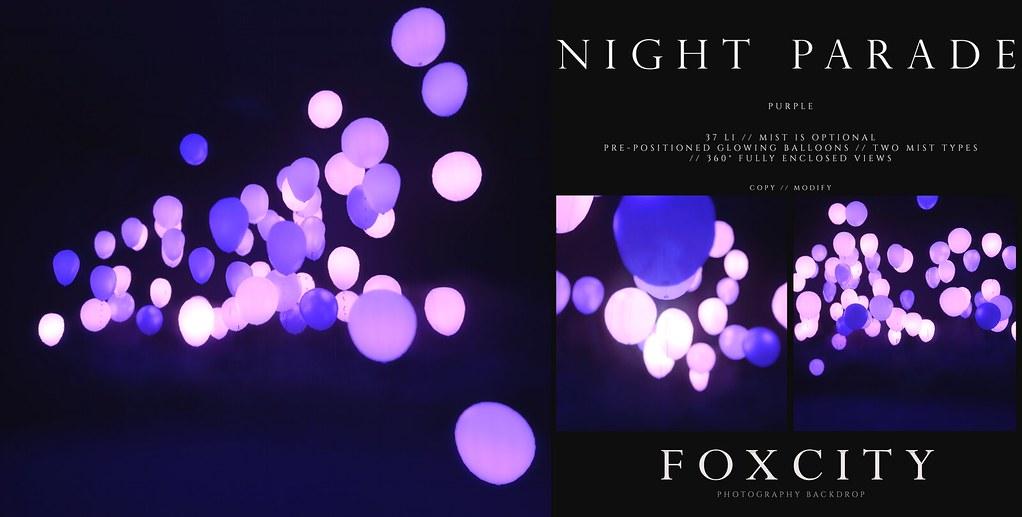 FOXCITY. Photo Booth – Night Parade (Purple)