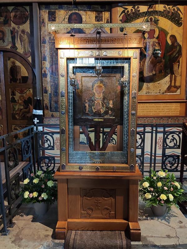 Великий Новгород - Новгородский кремль (Детинец) - Икона Богоматерь Знамение в Софийском соборе