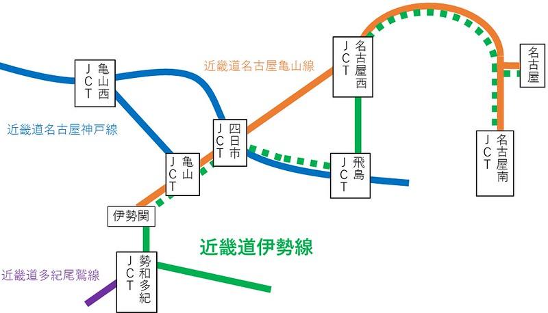名二環が近畿自動車道伊勢線である件 (1)