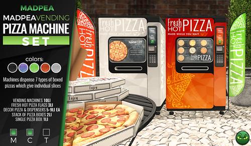 MadPea Pizza Vending Machine Set