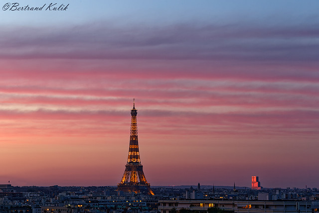 Parisian sky, sunset Paradise