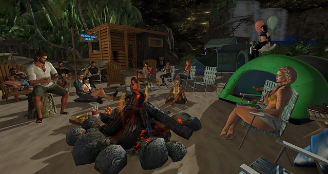 Hedonist Camp Out at Splash Water Park