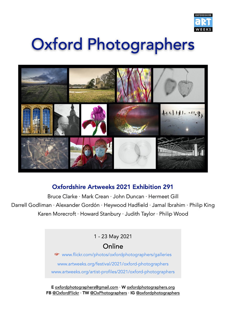 Oxford Photographers Artweeks 2021 flyer