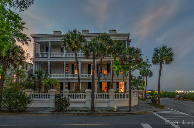 Private home along South Battery in Charleston