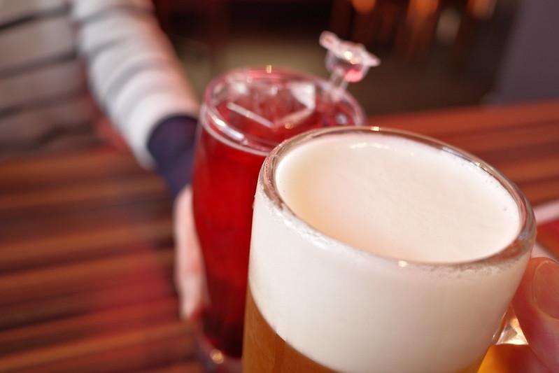 モルツ生ビールとカシスウーロン