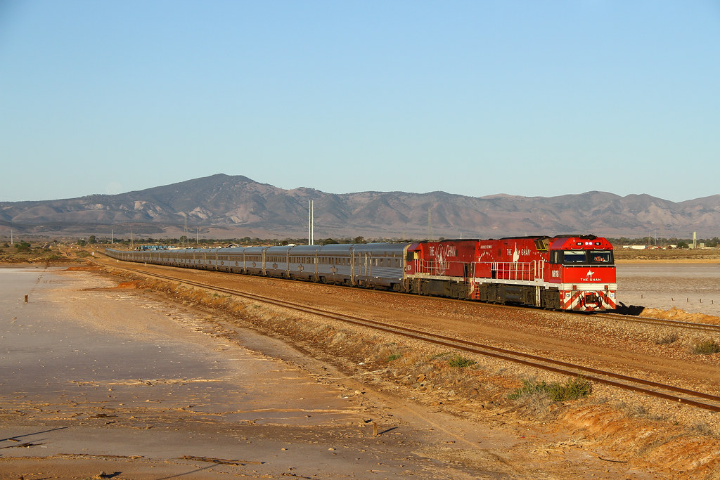 Ghan passing the lake by David Arnold