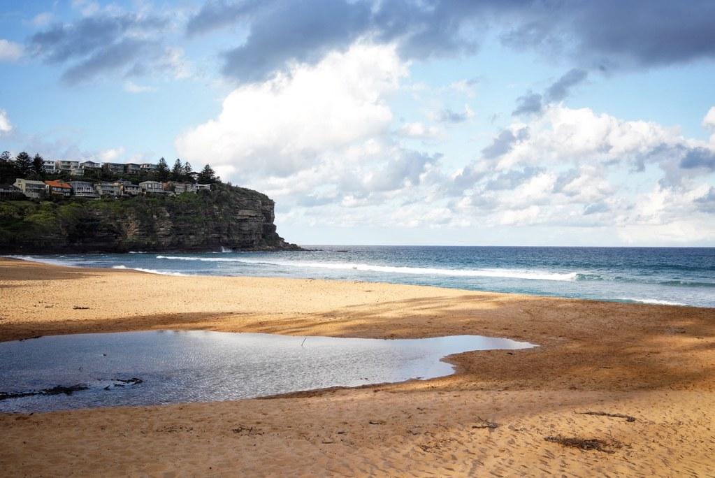 Bilgola beach, autumn afternoon light #sydney