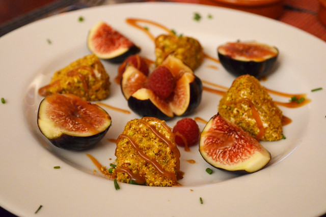Figs and goat's cheese, Provence, France