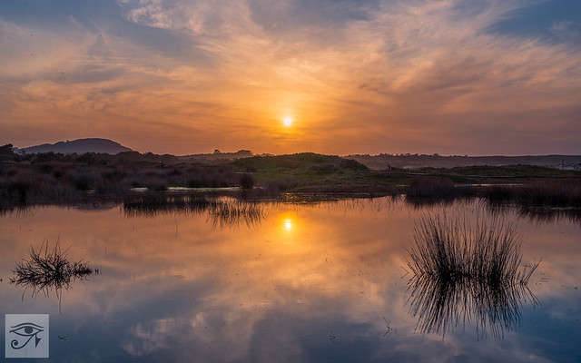 Sunset Reflection. Galicia. Spain.