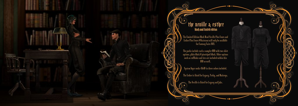 "LUX AETERNA ""The Neville & Esther Black Wool Limited Edition"" @ Fantasy Faire 2021"