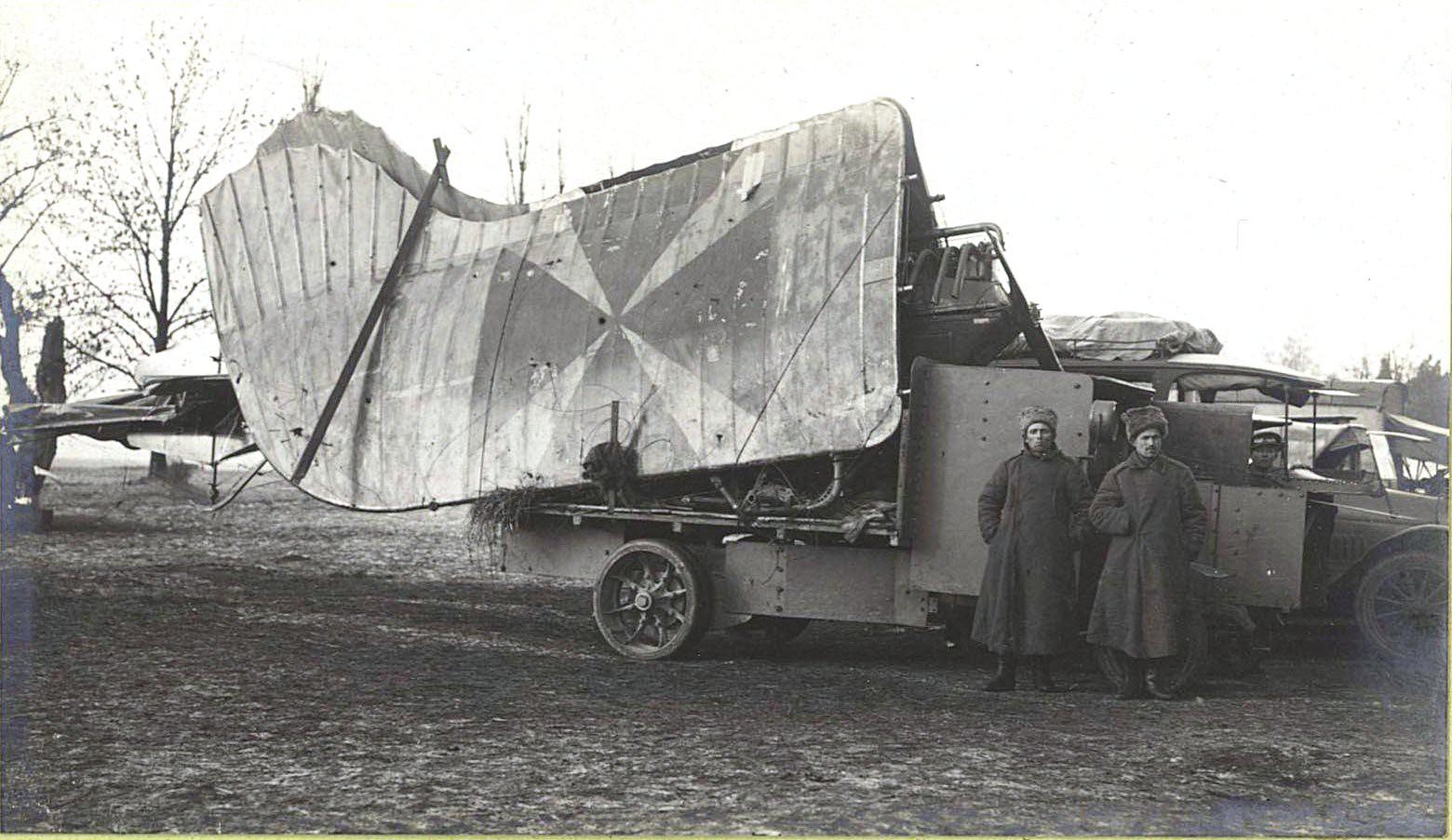 78. Германский аэроплан, подбитый на передовых позициях 3-им Кавказским корпусом