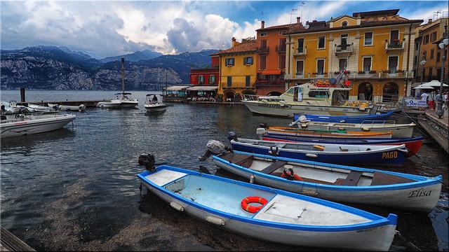 The port of Malcesine on Lake Garda