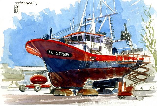 Lorient - Aire de réparation navale - Tximistarri II - 23 04 2021