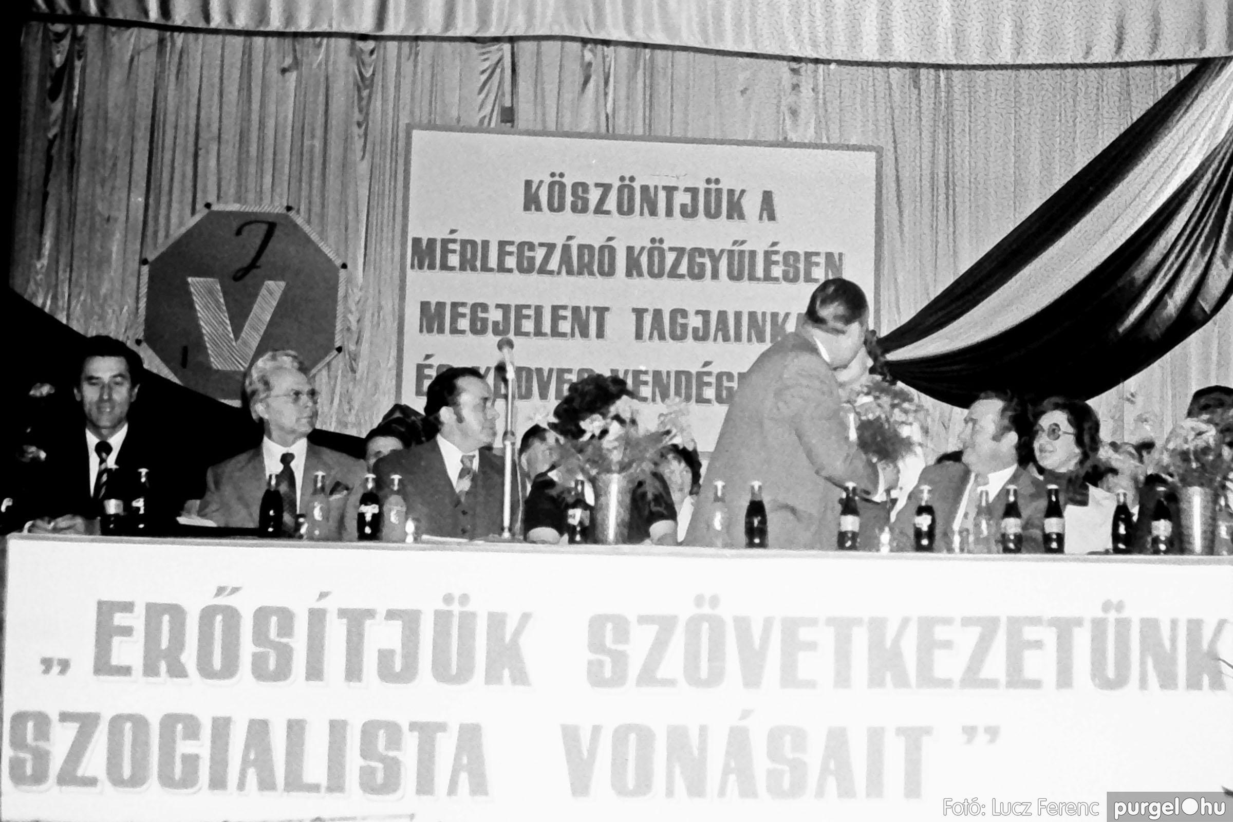 107. 1978. A KTSZ mérlegzáró közgyűlése 017. - Fotó: Lucz Ferenc.jpg