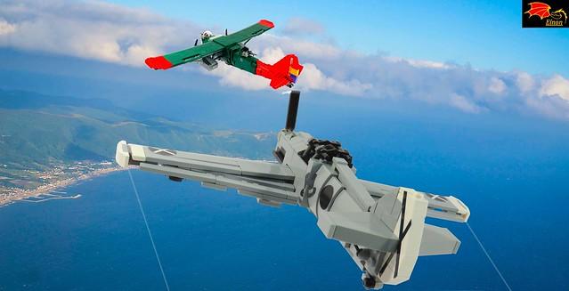 Bf-109B vs Potez 540