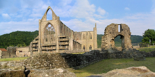 tintern abbey ruin wales 威尔士 monmouthshire wye church cathedral 英国 great britain uk united kingdom canon s1is panorama stitched