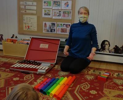 glockenspiel, boom whackers, xylophone in C scale