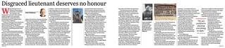 Disgraced lieutenant deserves no honour - The Sun-Herald 25 Apr 21