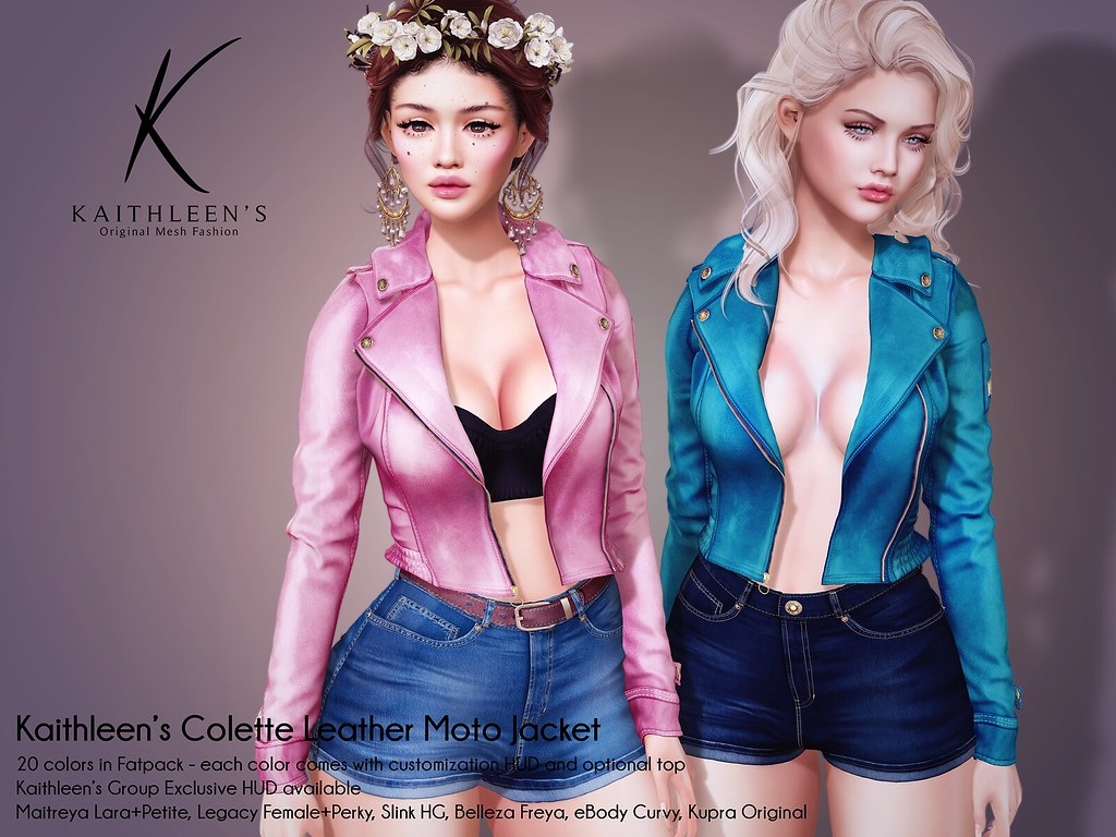 Kaithleen's Colette Leather Moto Jacket Poster web