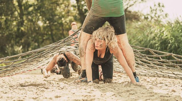 Mud run girl.