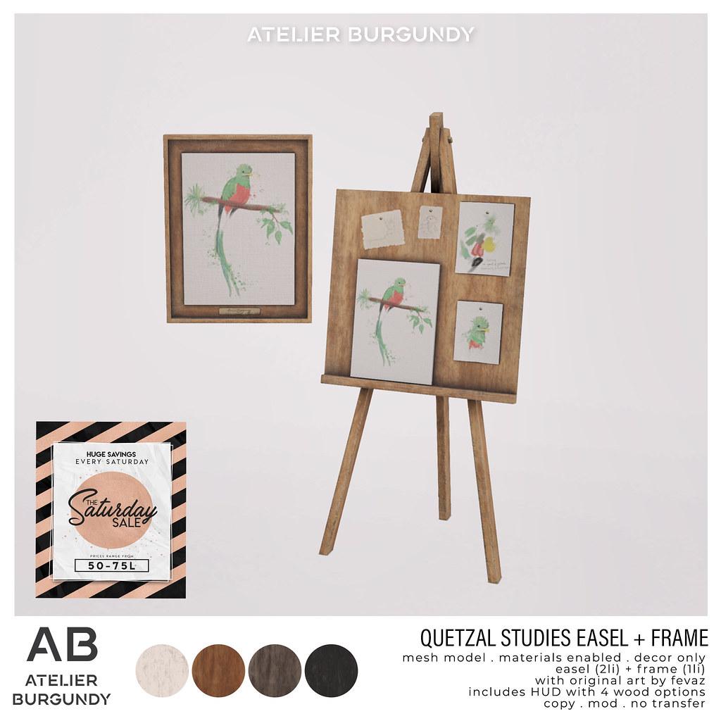 Atelier Burgundy . Quetzal Studies TSS