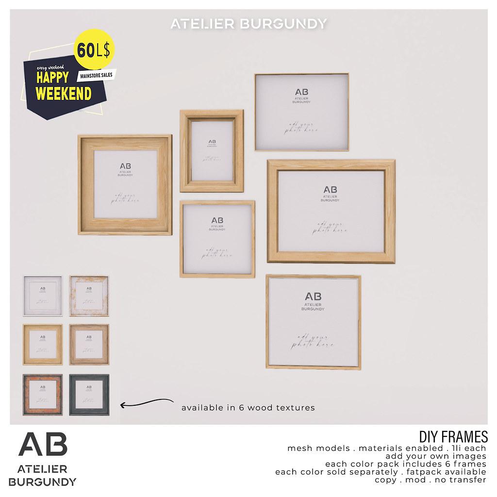 Atelier Burgundy . DIY Frames