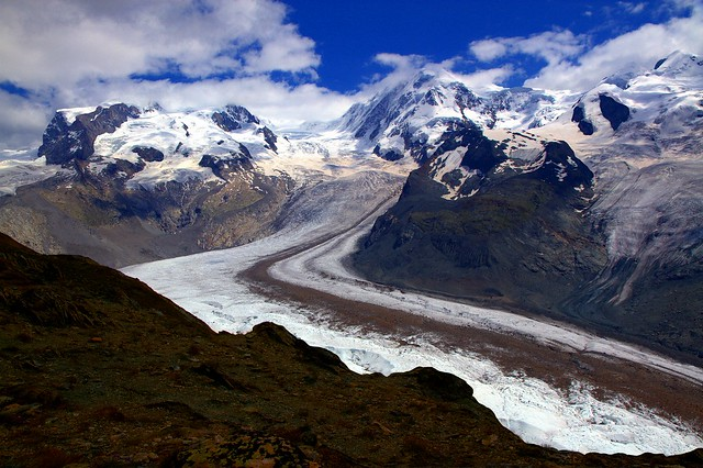 Majesty of Glaciers in the world of Alpine peaks